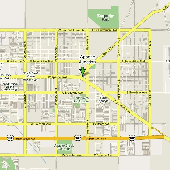 Click here to see full map of Apache Junction...