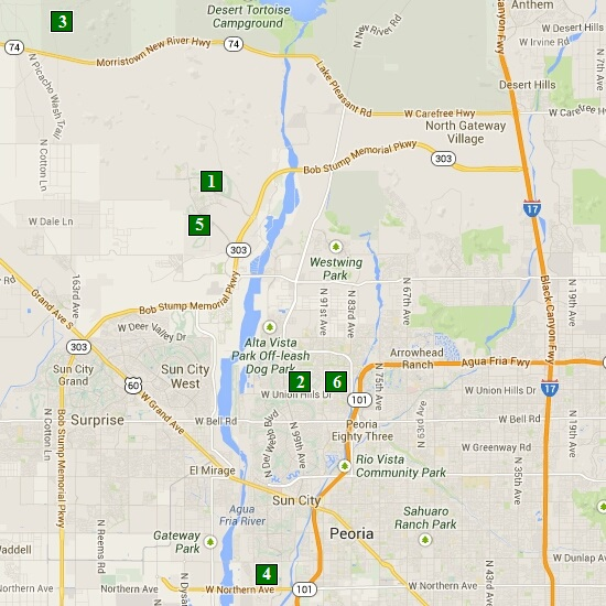 Click here to see full map of Peoria...